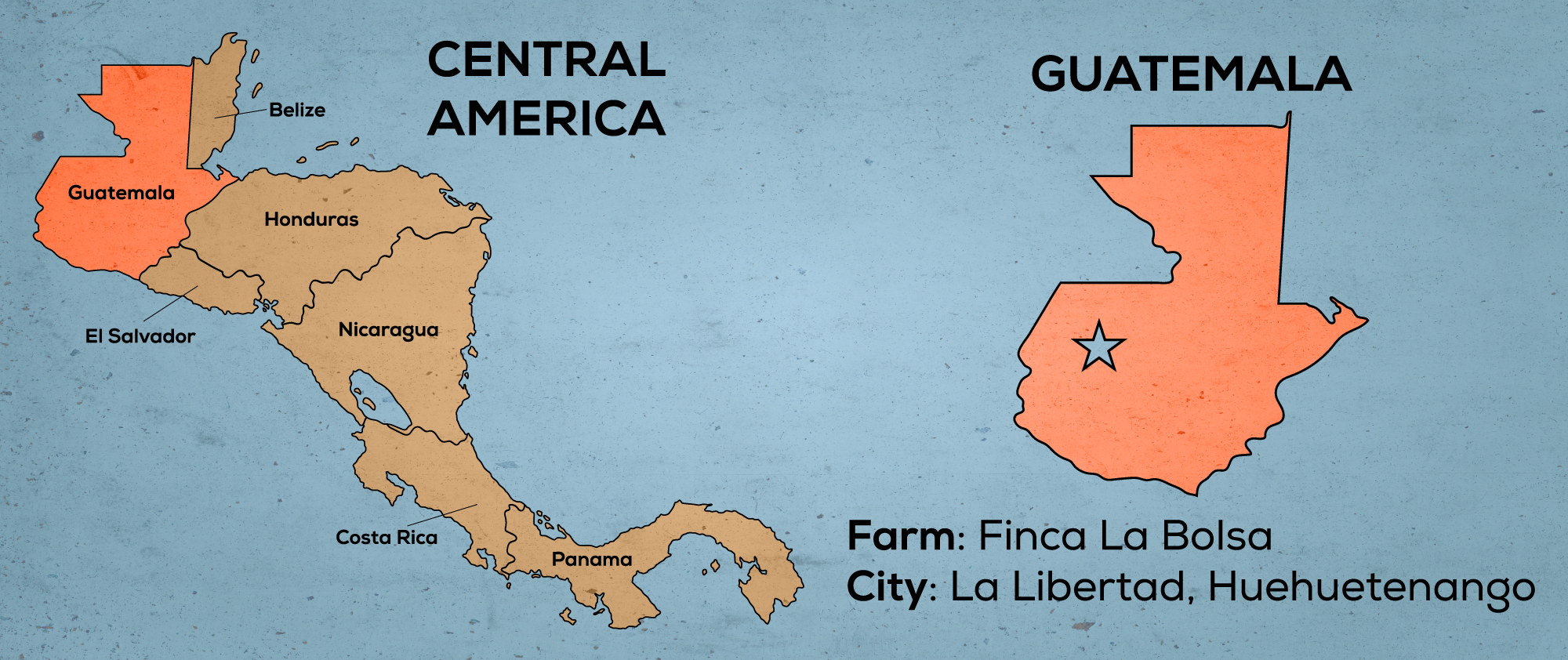 Map of Central America & Guatemala