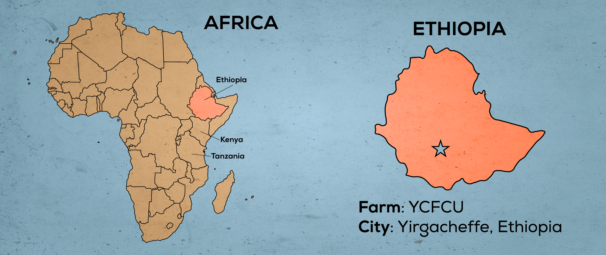 Map of Africa & Ethiopia