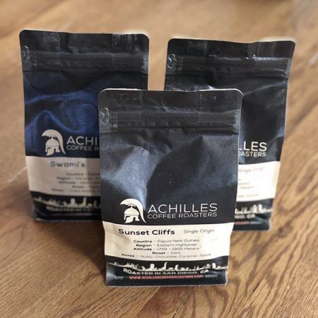Craft coffee subscription with 3 bags from Achilles Coffee Roasters