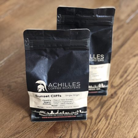 Craft coffee subscription with 2 bags from Achilles Coffee Roasters